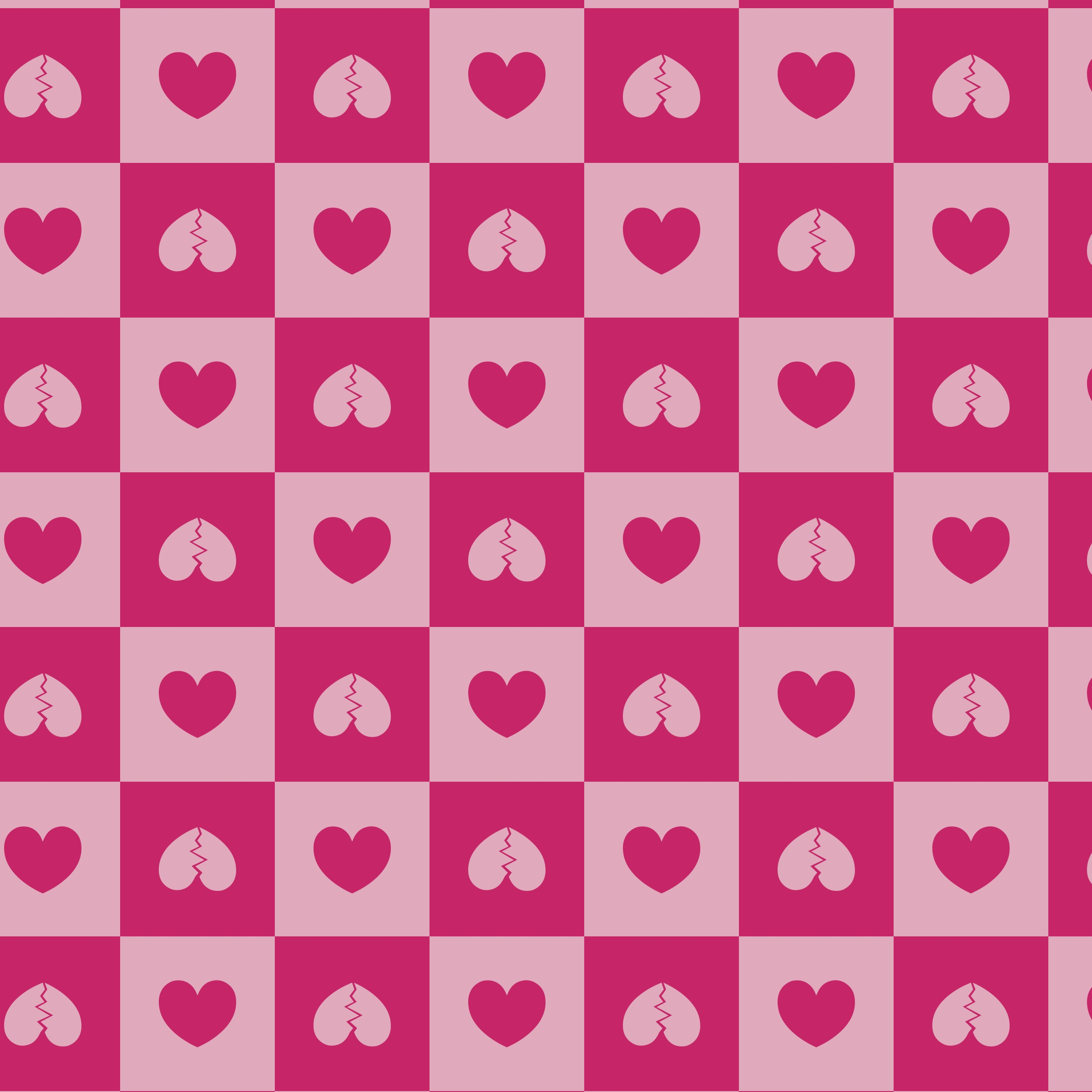 pink print with hearts